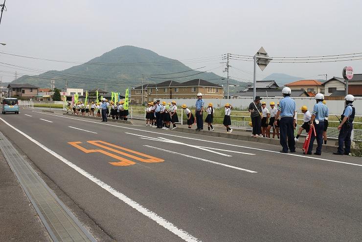 交通安全キャンペーン 下小協力 29 9 20