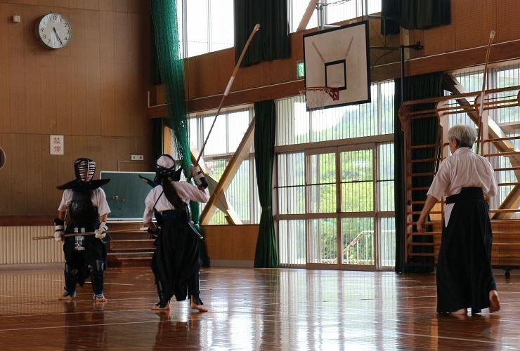 薙刀のお稽古 暑い日 29.8.15