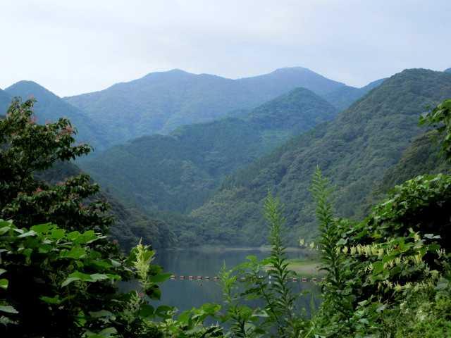 IMG1985JPG遊歩道より湖面と福智山