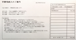 卒業試験審査料