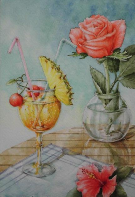 バラとパイナップル 1707