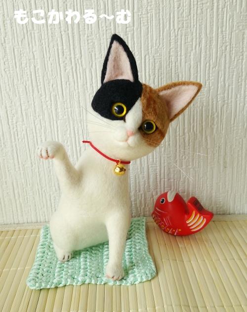三毛猫まねき1