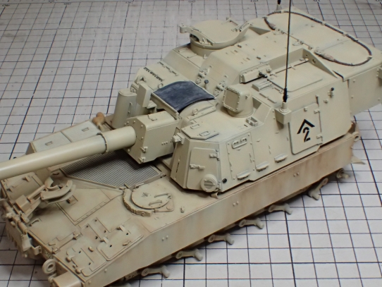 M109パラディン自走砲 ウェザリング