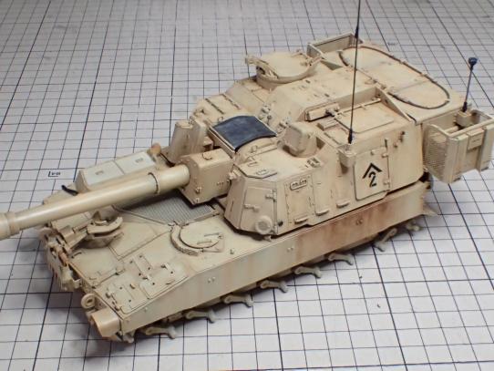 M109パラディン自走砲 砲塔ウェザリング