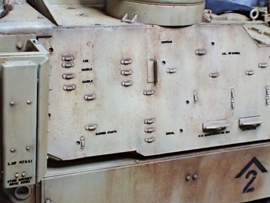 M109パラディン自走砲 砲塔表面