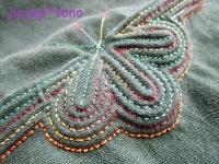 緑 ヌビ セキシルヌビ グラデーション糸