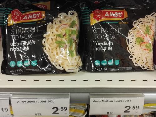 フィンランド K-Supermarket 生うどん