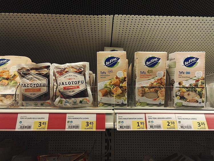 フィンランド スーパー Jalo 豆腐 Tofu