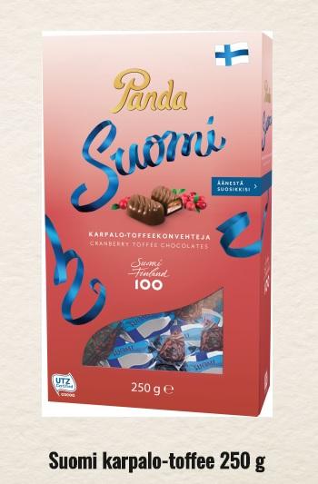 Panda Suomi Karpalo Toffee チョコ フィンランド独立100周年記念パッケージ