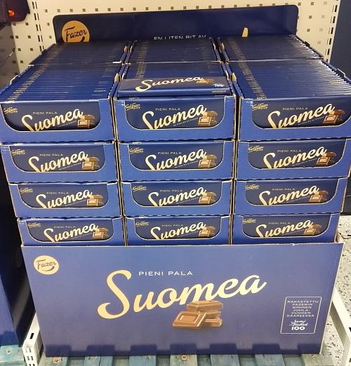 フィンランド Fazer Sininen ミルクチョコ Suomi ヴァージョン