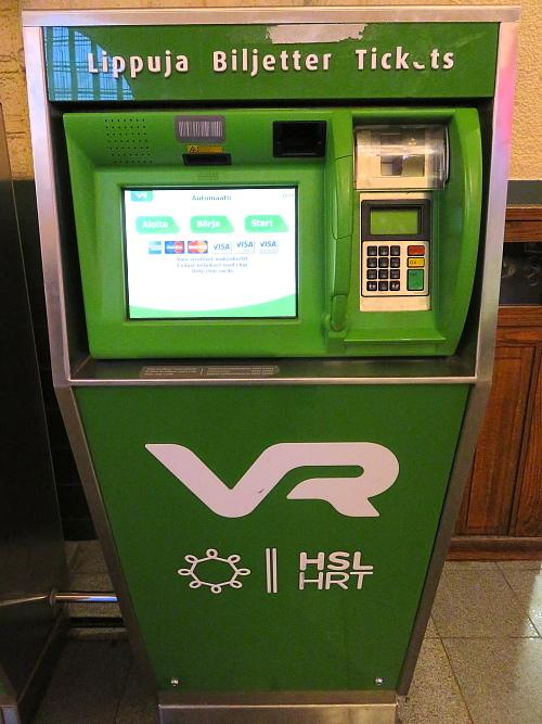 フィンランド ヘルシンキ中央駅 切符 VR 自動販売機