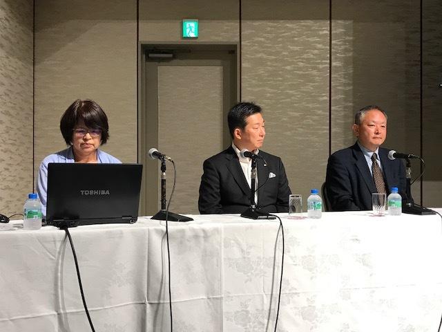 日本ワインを愛する会 ワイントーク 石井氏、柿崎氏、安藤氏