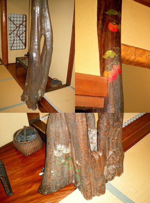 宇喜世・竹の間 床柱