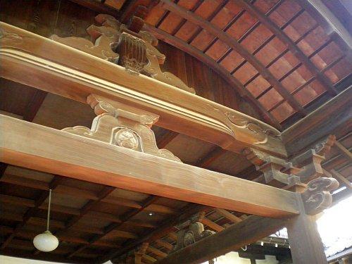 安養院・表玄関 屋根
