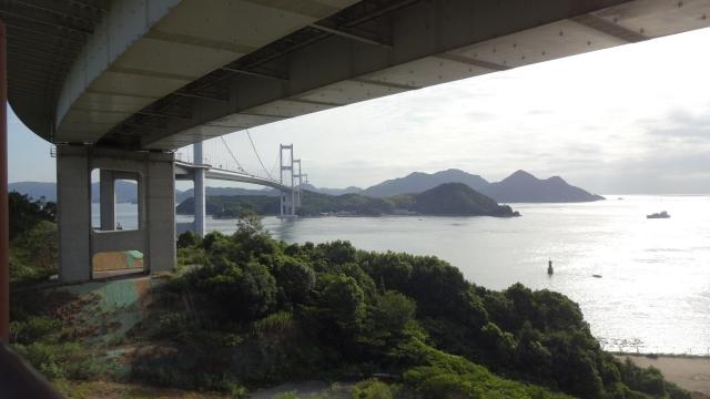海峡大橋へ
