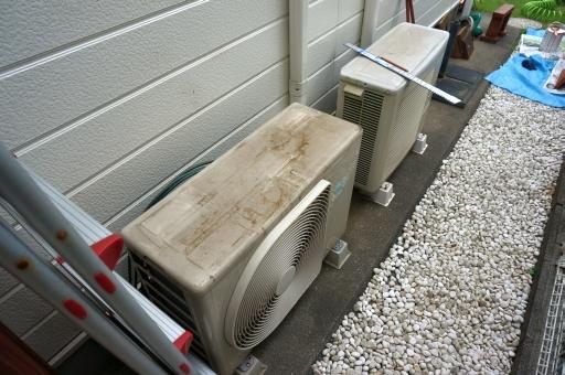 エアコン 室外機 屋根 自作