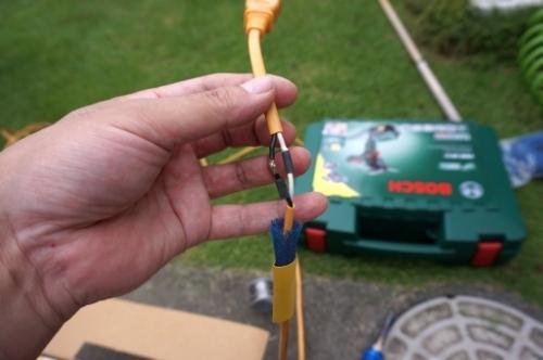 芝刈り機 コード 切った