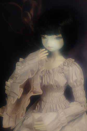 お譲り頂いた、DEAR MINE、DIANAヘッドカスタムの猫レディ、珠世さん。素敵なナイトドレスを着せました。