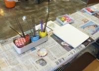 絵の具のテーブル