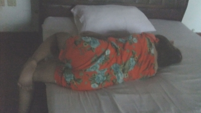 「バリ島ひとり旅 ①」置屋ホテル「バロカ」少女 出会い【Bali Island Alone Journey】8-1  バロカ姫後ろ姿
