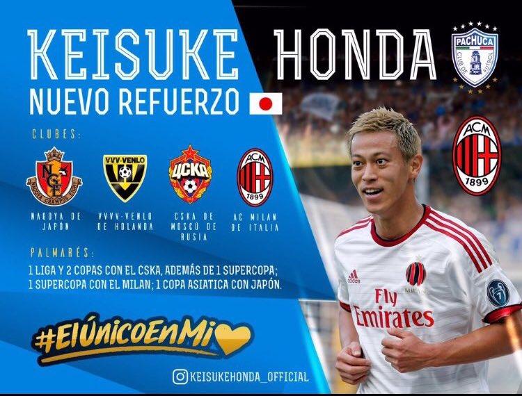 Tuzos anuncia la llegada del volante japonés Keisuke Honda 🇯🇵 Llega procedente del @acmilan 🇮🇹