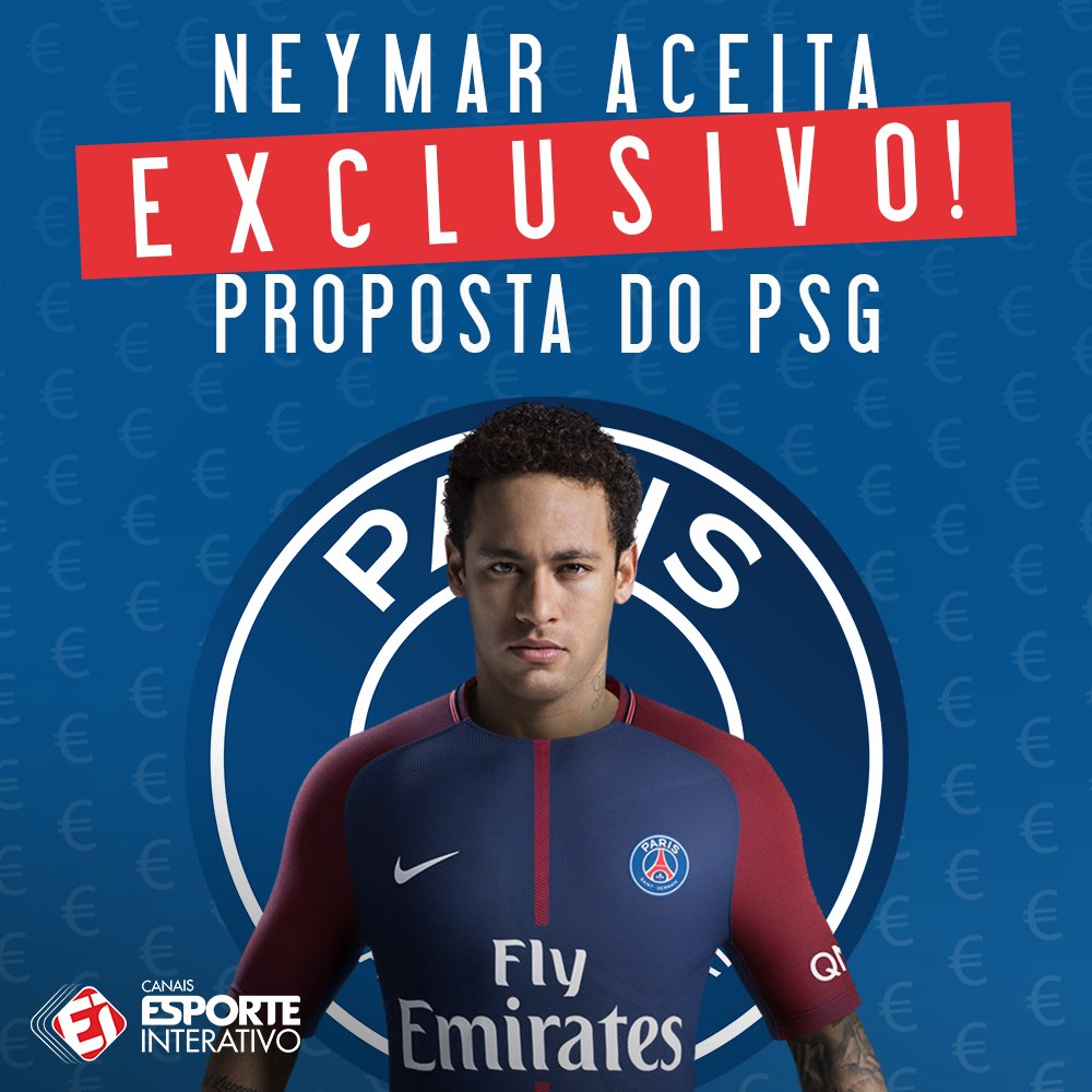 Brazillian journalist claims that Neymar has accepted PSGs proposal and that the deal should be made official soon