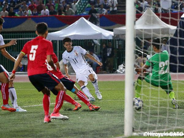 endo goal against Cambodia #AFCU23 2017
