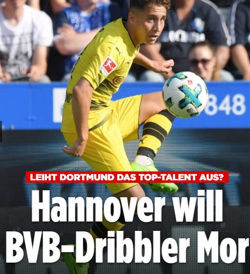 Hannover 96 are interested in signing Dortmunds Emre Mor on loan