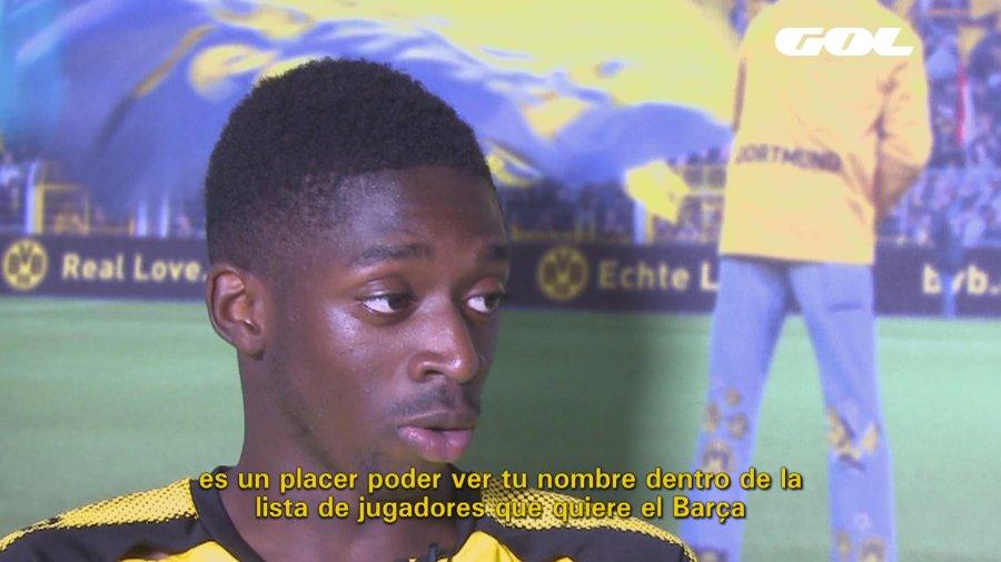 Ousmane Dembélé se deja querer por el @FCBarcelona_es