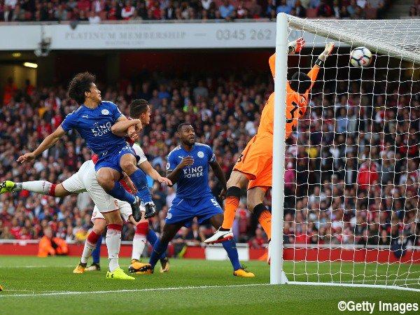 Arsenal 1-[1] Leicester - Okazaki 2017