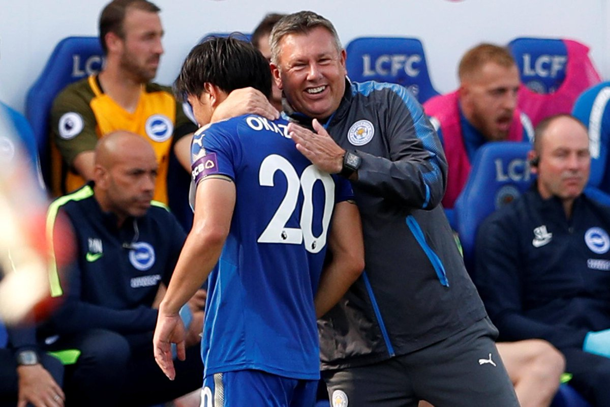 Leicester 2-0 Brighton Shinji Okazaki and Harry Maguire scored in each half to consign the visitors to a second defeat