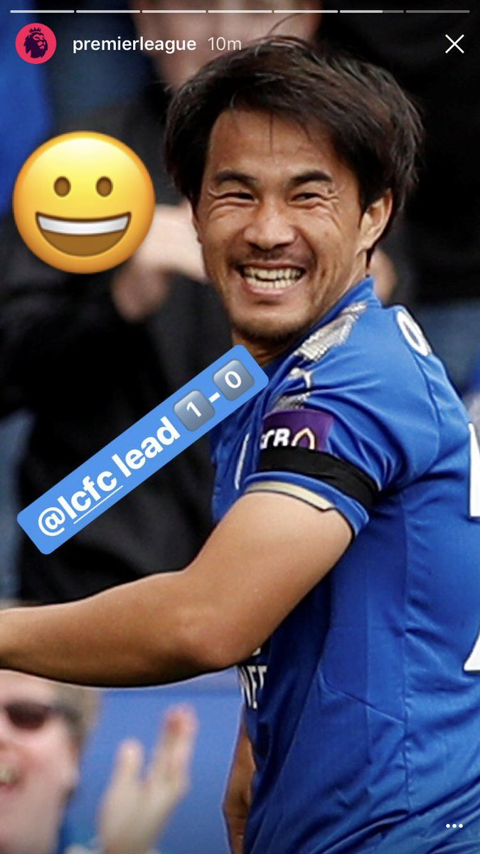 3 things in life are certain 1) Death 💀 2) Taxes 💰 3) Shinji Okazaki smiling all the time