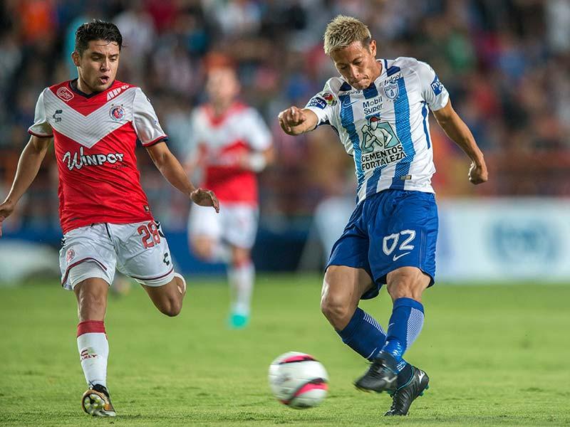 Keisuke Hondas debut with a goal vs Veracruz