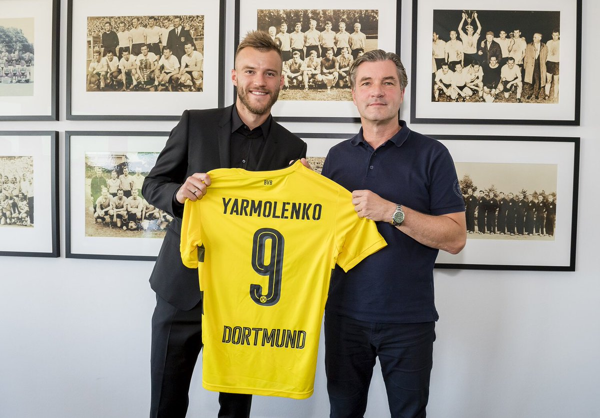 Andriy Yarmolenko (27) has signed for Borussia Dortmund