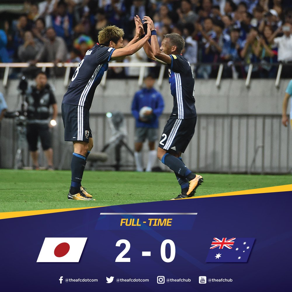 Japan seal Asias second spot in the @FIFAWorldCup after a win against Australia