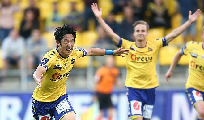 Morioka 2 goals assist Waasland-Beveren