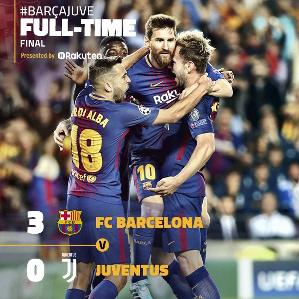 Barcelona 3-0 Juventus ⚽️ (Messi x2 and Rakitic) 2017