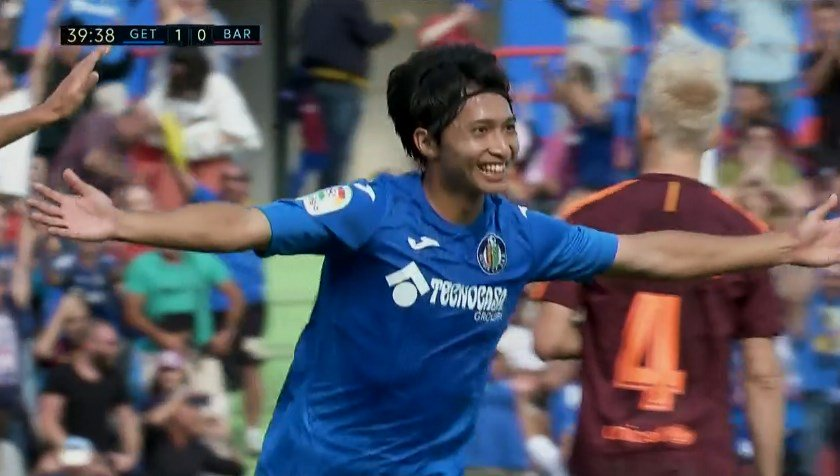 SHIBASAKI SCREAMER!!! Getafe 1-0 Barcelona