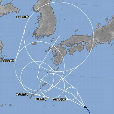 台風5号 8_02_2