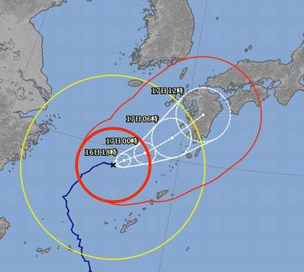 台風18号 9-16 1