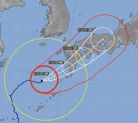 台風18号 9-16 2