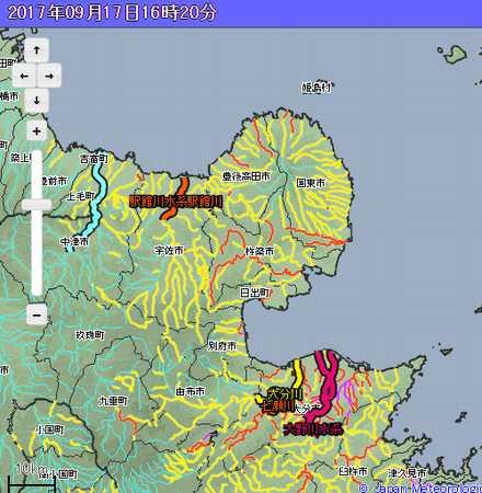 洪水警報危険マップ