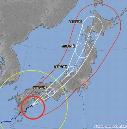 台風18号 9-17 1