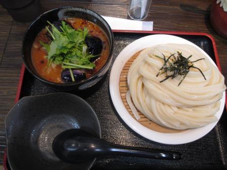 豚バラ肉と茄子の辛つけ麺