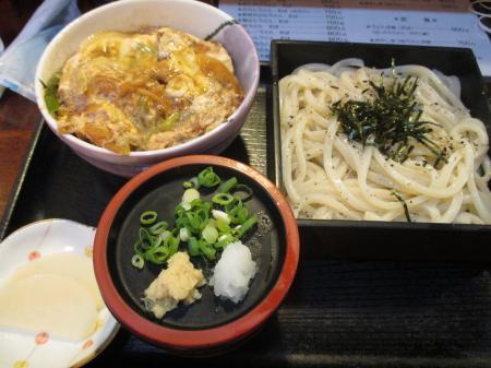 ミニカツ丼+ざるうどん