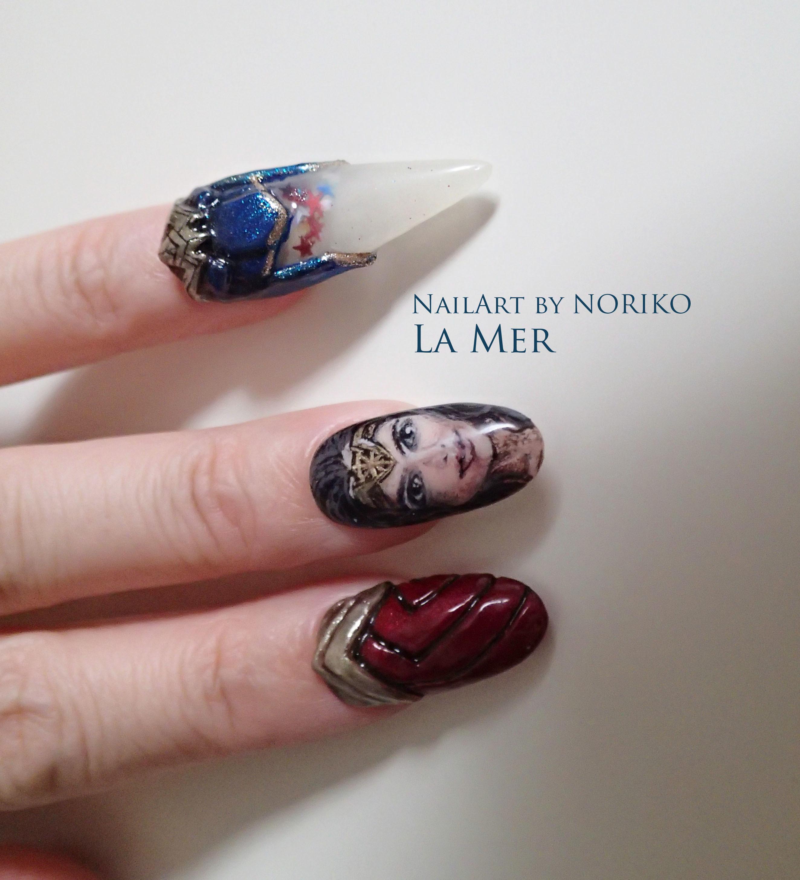 Nail Artist : NORIKO/ 典子 WONDER WOMAN8