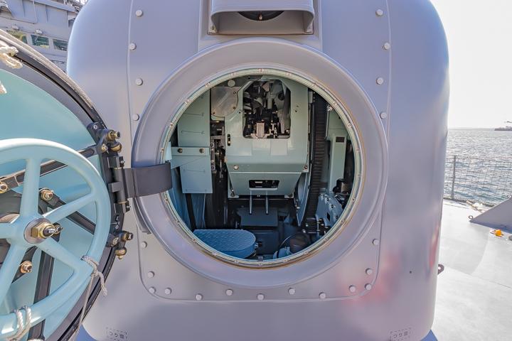 TV3513 練習艦 しまゆき 62口径76mm速射砲 62口径76mm単装速射砲 砲塔背面ハッチオープン