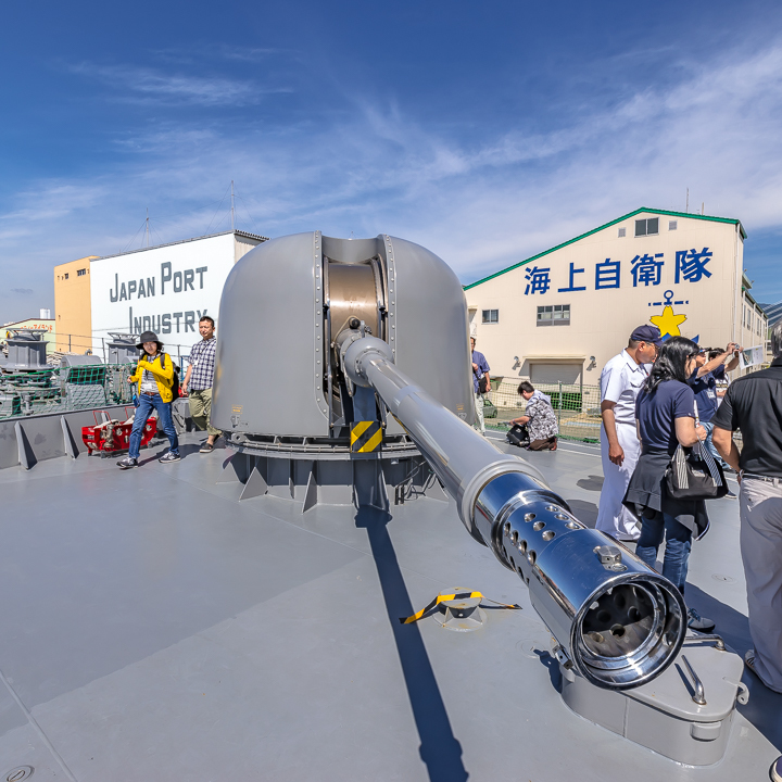 TV3513 練習艦 しまゆき 62口径76mm速射砲 62口径76mm単装速射砲 砲身俯角