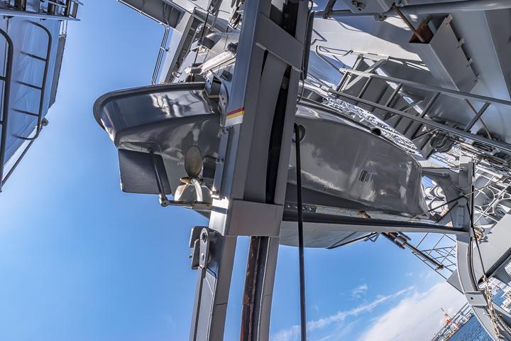 TV3513 練習艦 しまゆき ボートダビット 作業艇底面