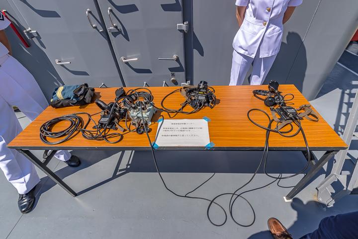 TV3513 練習艦 しまゆき 無電池電話体験コーナー